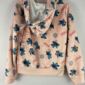 Disney Shirts & Tops - Stitch zip up sweater